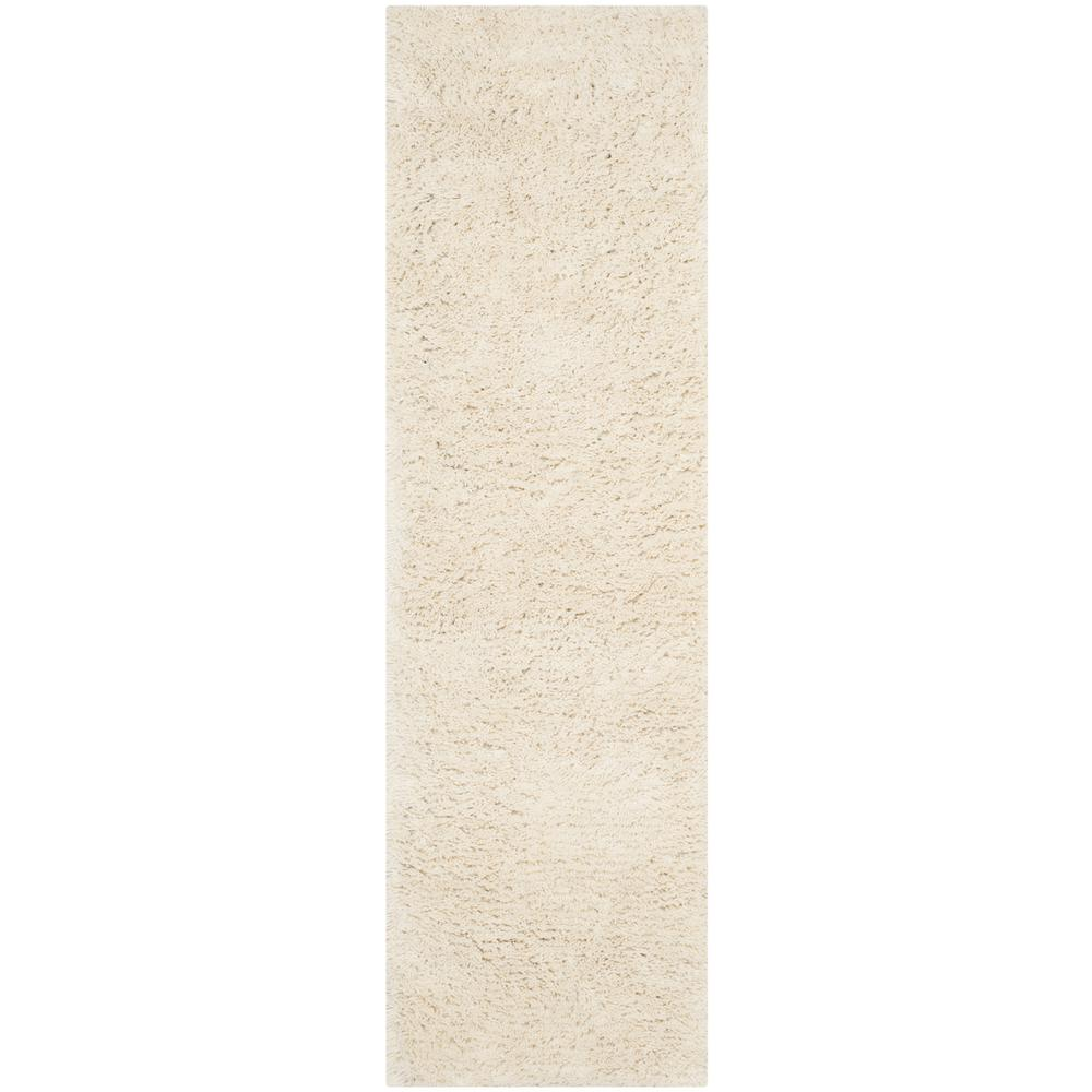 Safavieh Clic Shag White 2 Ft X 8 Runner Rug