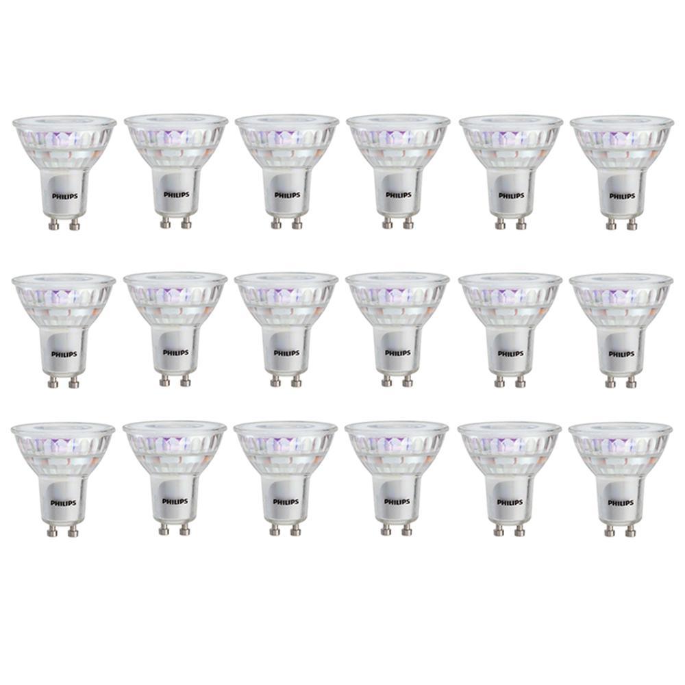 50-Watt Equivalent MR16 and GU10 LED Light Bulb Bright White (18-Pack)