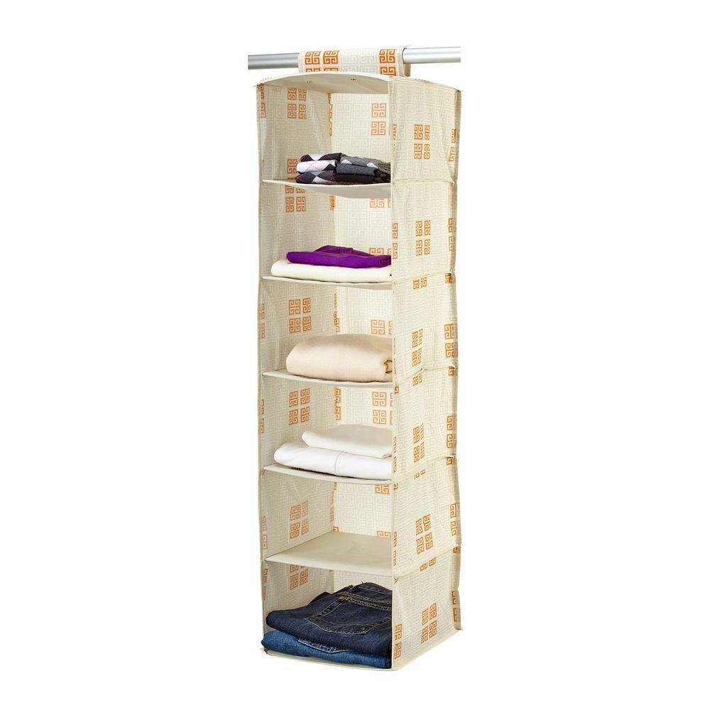 Polypropylene 6-Shelf Organizer in Cameo Key Cream