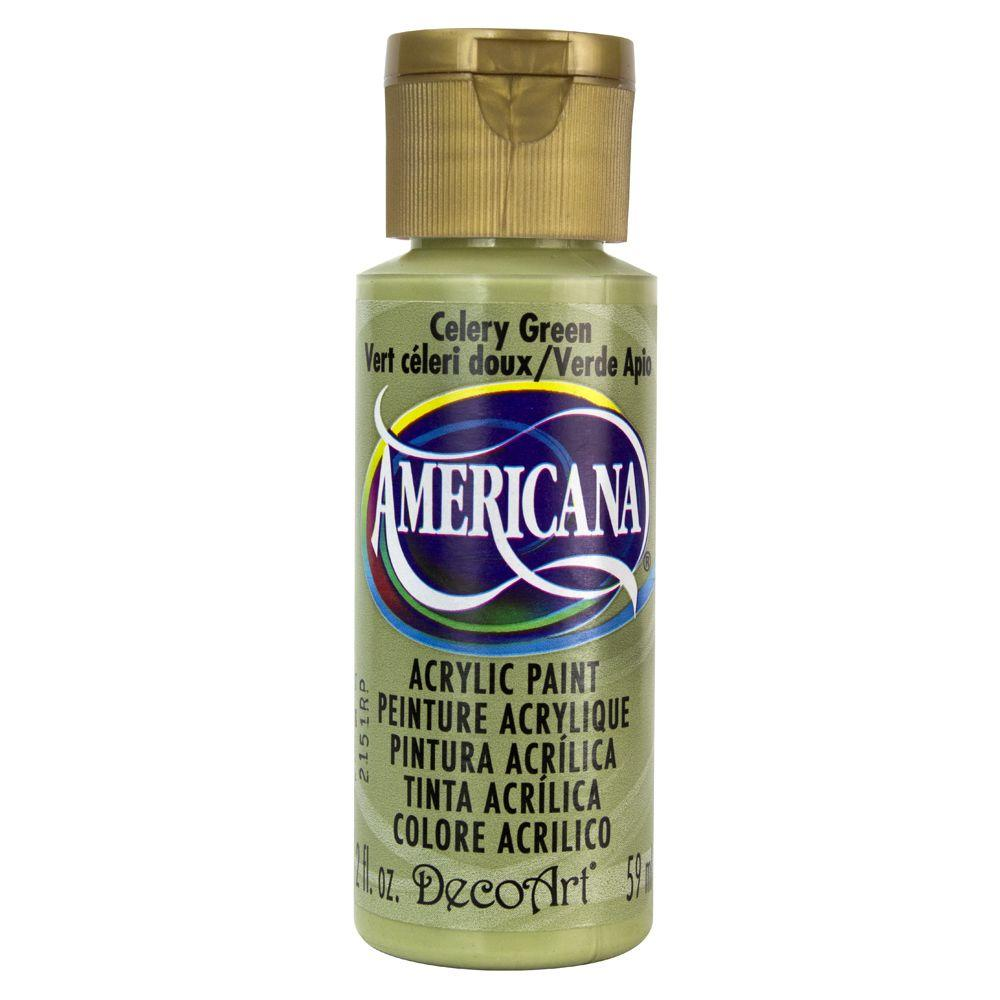 Americana 2 oz. Celery Green Acrylic Paint