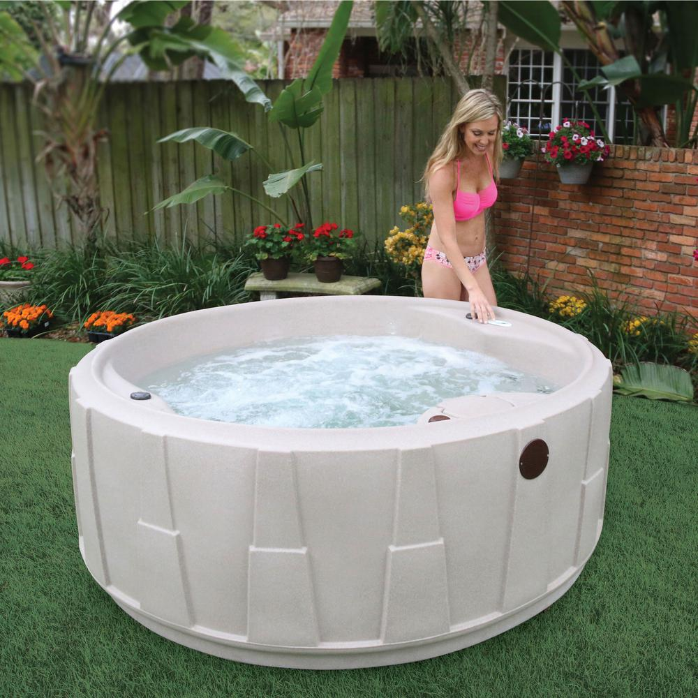 AquaRest Spas Select 200 5-Person Plug and Play Hot Tub with 20 Stainless  Jets