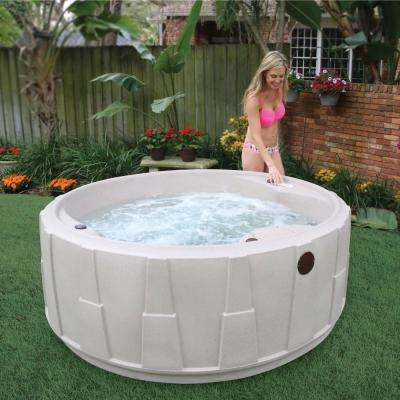 Select 200 5-Person Plug and Play Hot Tub with 20 Stainless Jets and LED Waterfall in Cobblestone