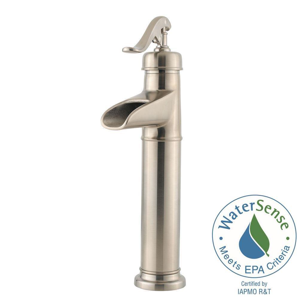 Pfister Ashfield Single Hole Handle Vessel Bathroom Faucet In Brushed Nickel