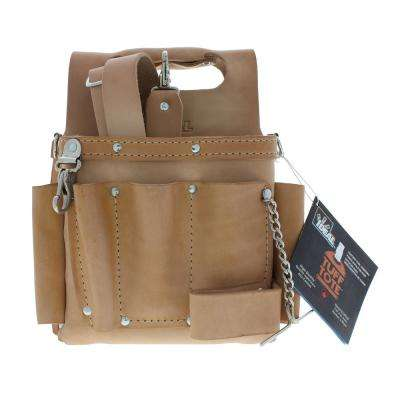 Tuff-Tote 9 in. W 15-Pocket Standard Leather Tool Bag with Strap