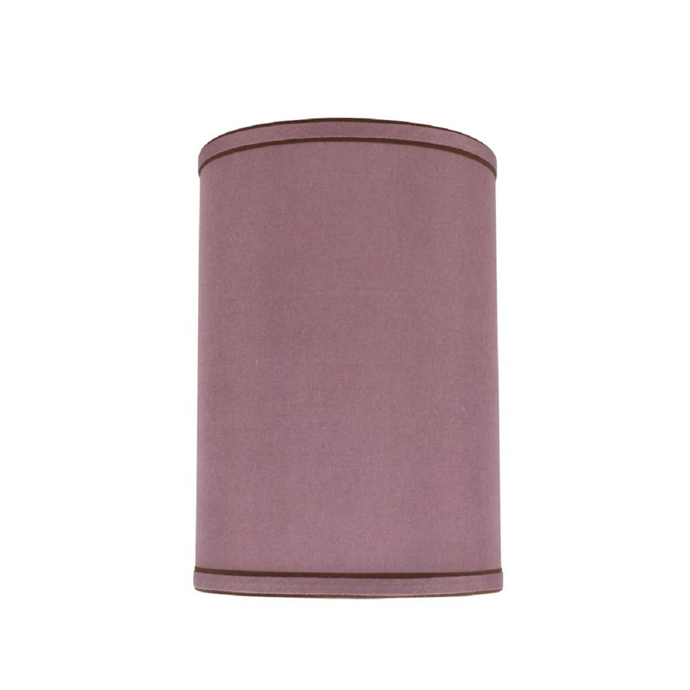 Reddish Purple Hardback Drum Cylinder Lamp Shade