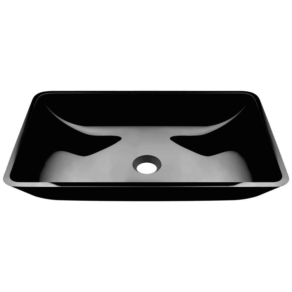 MR Direct Glass Vessel Sink in Black