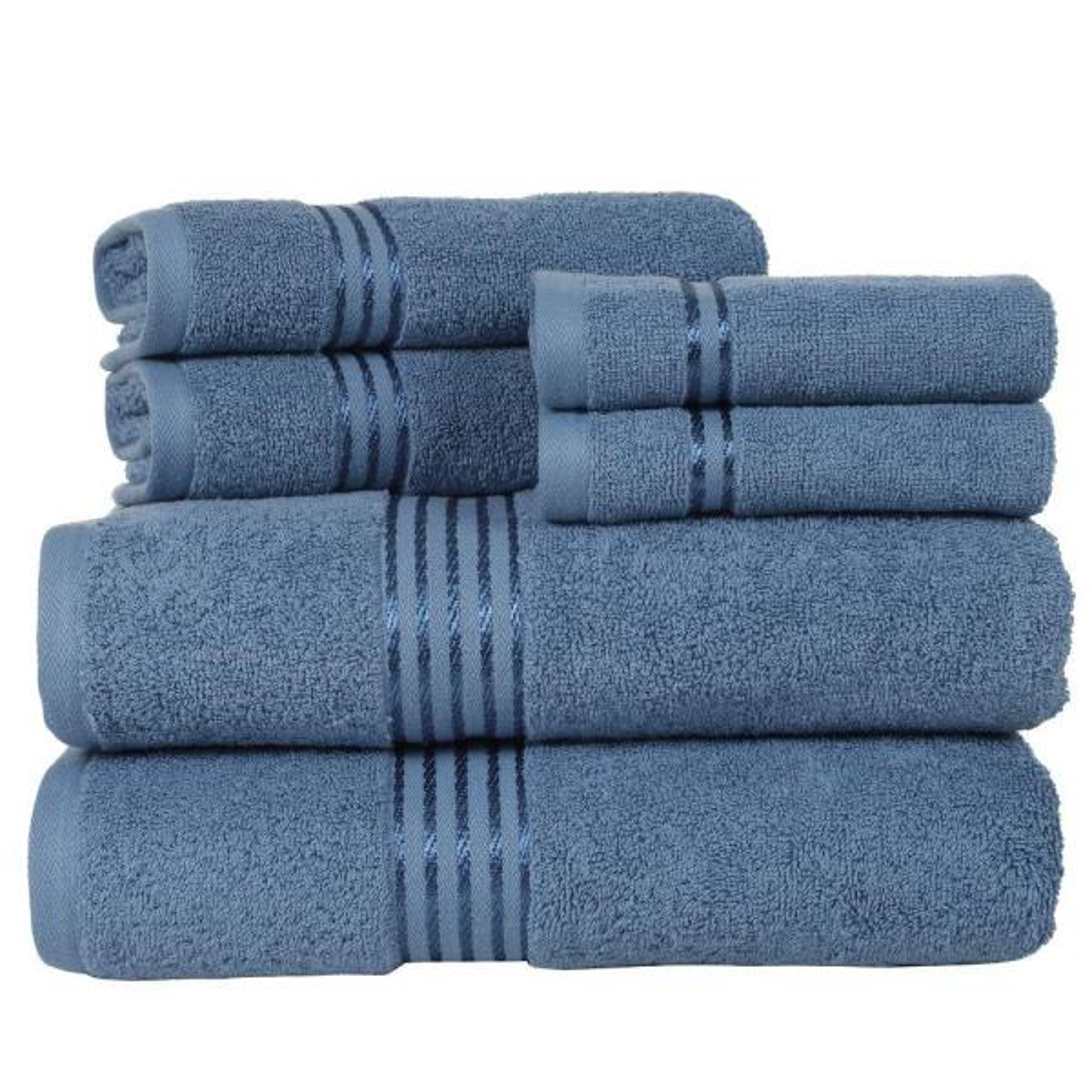 1533a109ce67 Lavish Home 100% Egyptian Cotton Hotel Towel Set in Light Blue (6-Piece