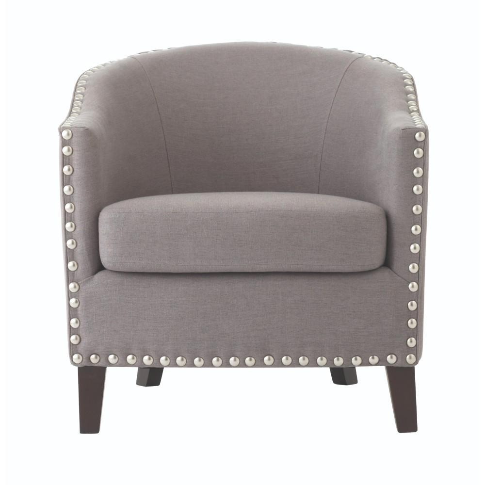 Moore Linen Dove Grey Club Chair