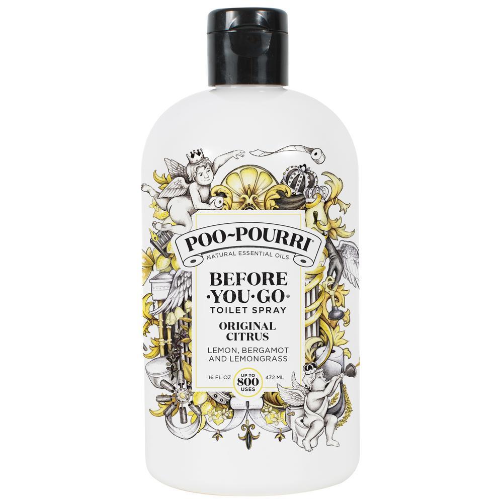 Poo~Pourri Before-You-Go Toilet Spray Refill (Sprayer not Included), Original Citrus Scent, 16oz