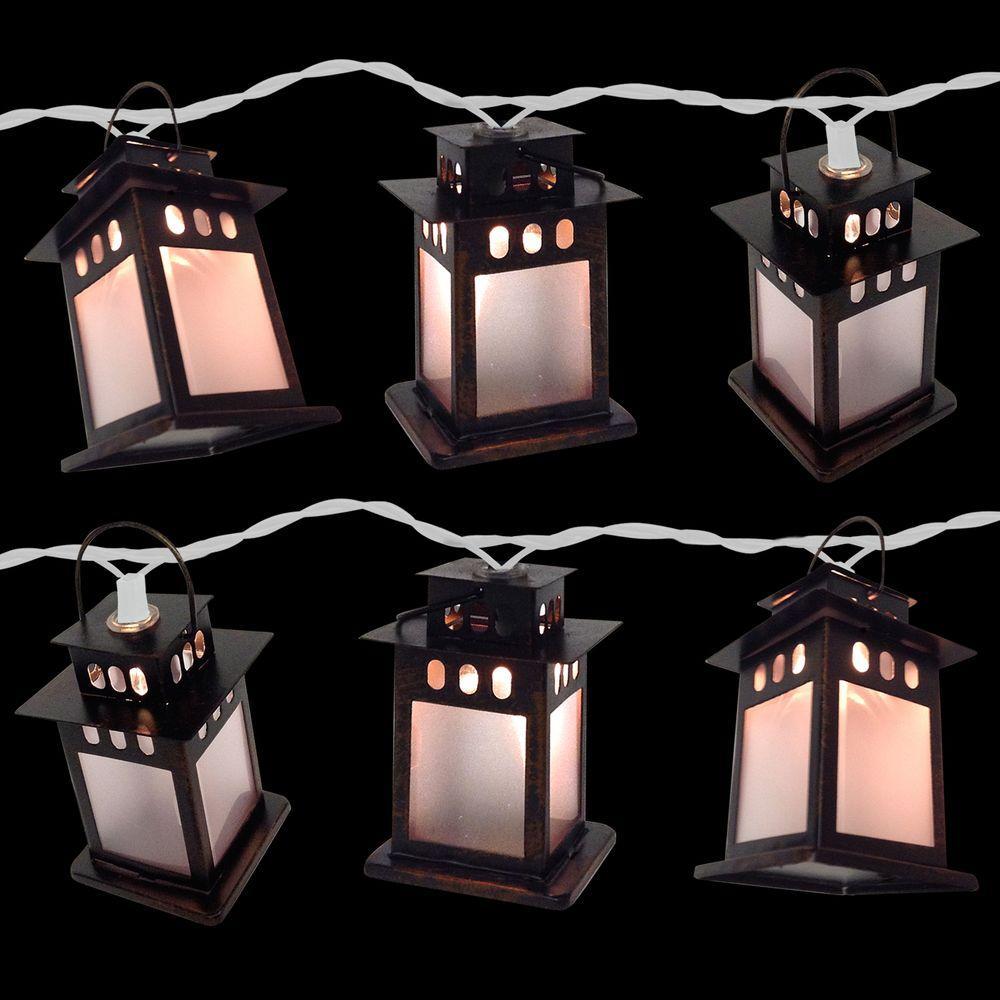 10-Light Copper Lamp Clear Light Set (Set of 2)