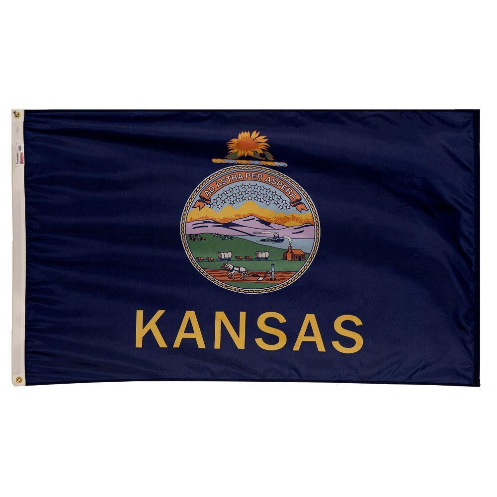 3 ft. x 5 ft. Nylon Kansas State Flag