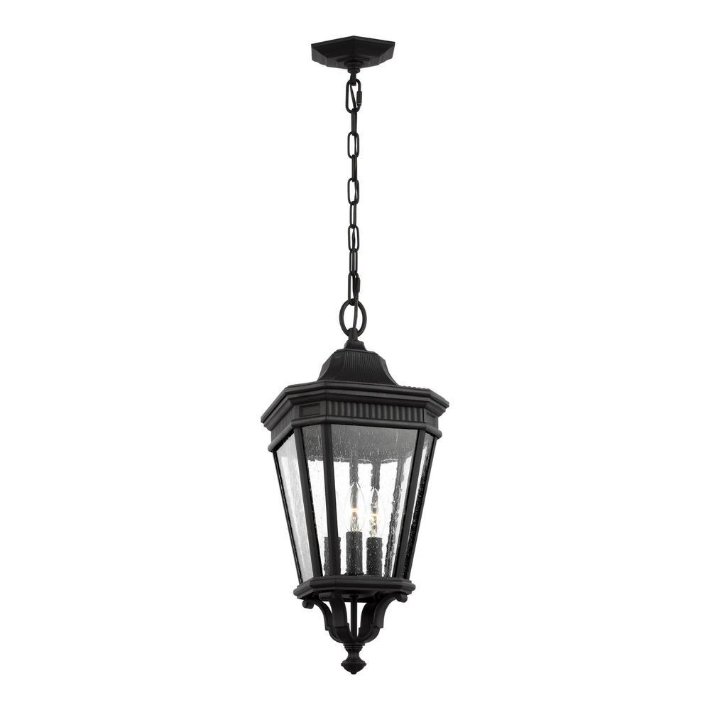 Cotswold Lane Black 3-Light Hanging Lantern