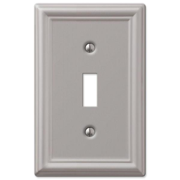 Ascher 1 Gang Toggle Steel Wall Plate - Brushed Nickel