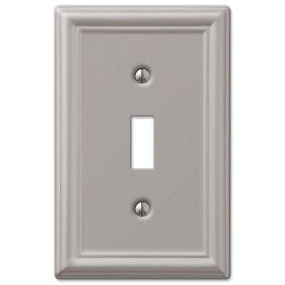 Ascher 1 Toggle Wall Plate - Brushed Nickel Steel