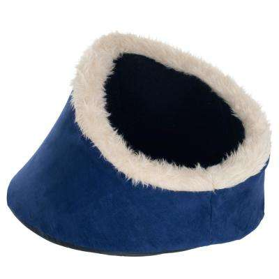 Small Blue Comfort Cavern Pet Bed