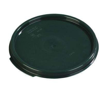 Lid for 2 and 4 qt. Polypropylene Round Storage Container in Forest Green (Case of12)