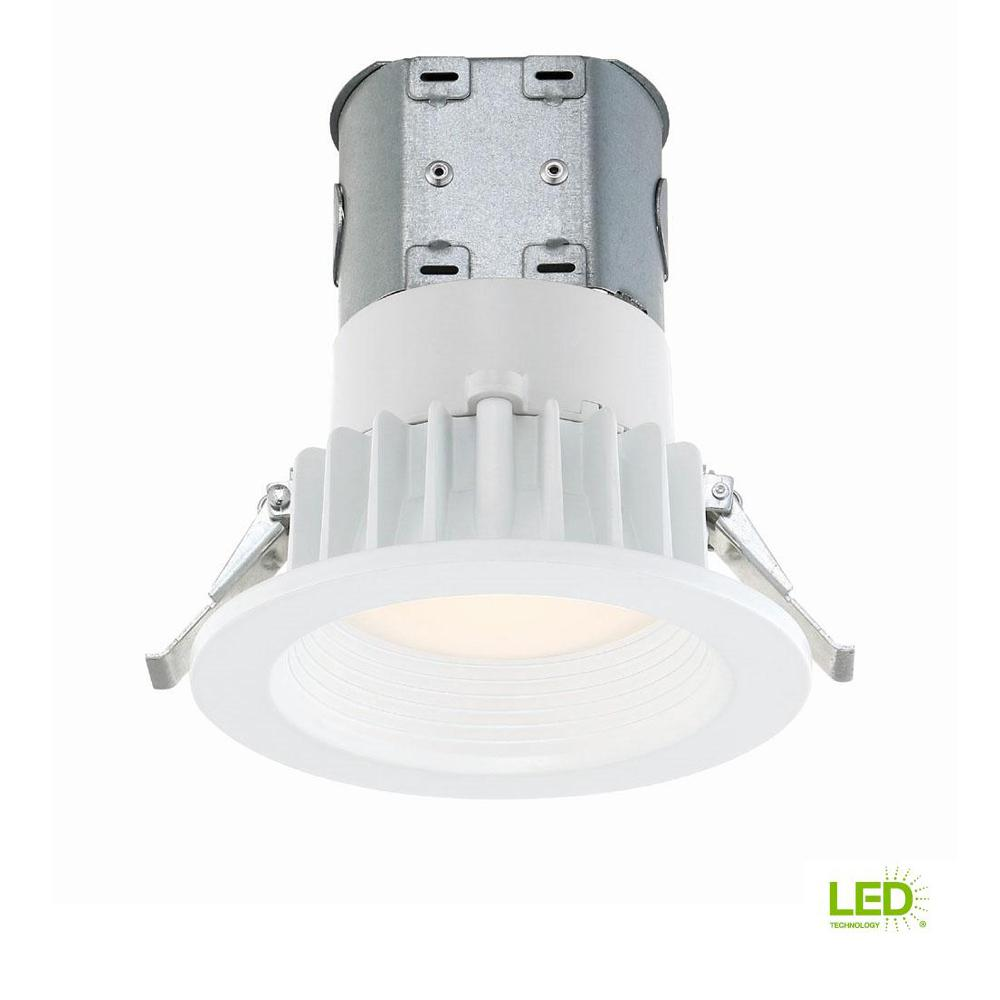 Easy-Up 4 in. White Baffle Integrated LED Recessed Kit at 91