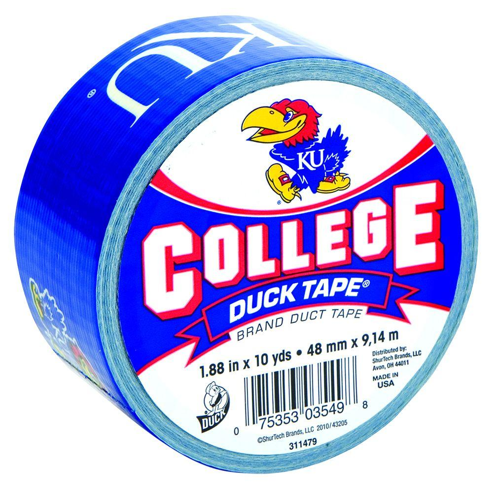 Duck College 1-7/8 in. x 10 yds. University of Kansas Duct Tape
