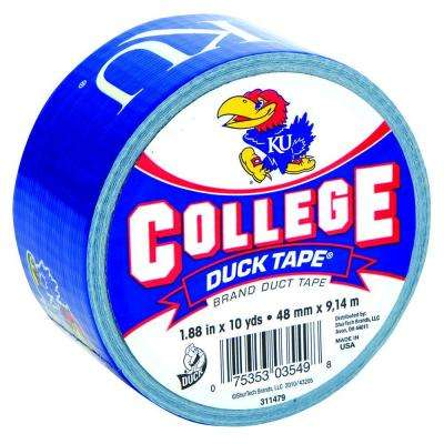 College 1-7/8 in. x 10 yds. University of Kansas Duct Tape
