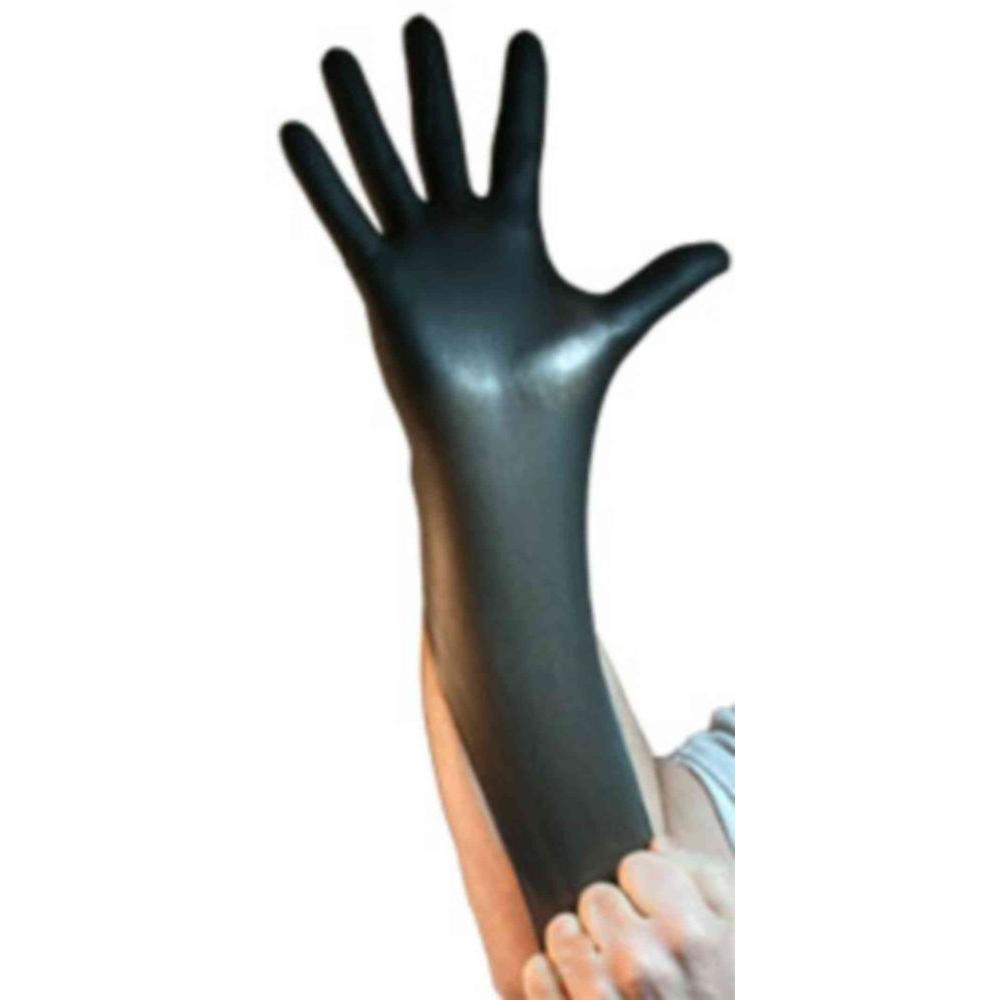Latex disposable gloves black