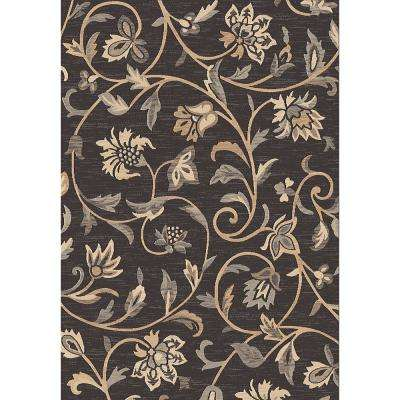 BellFlower Black 5 ft. x 7 ft. Indoor Area Rug