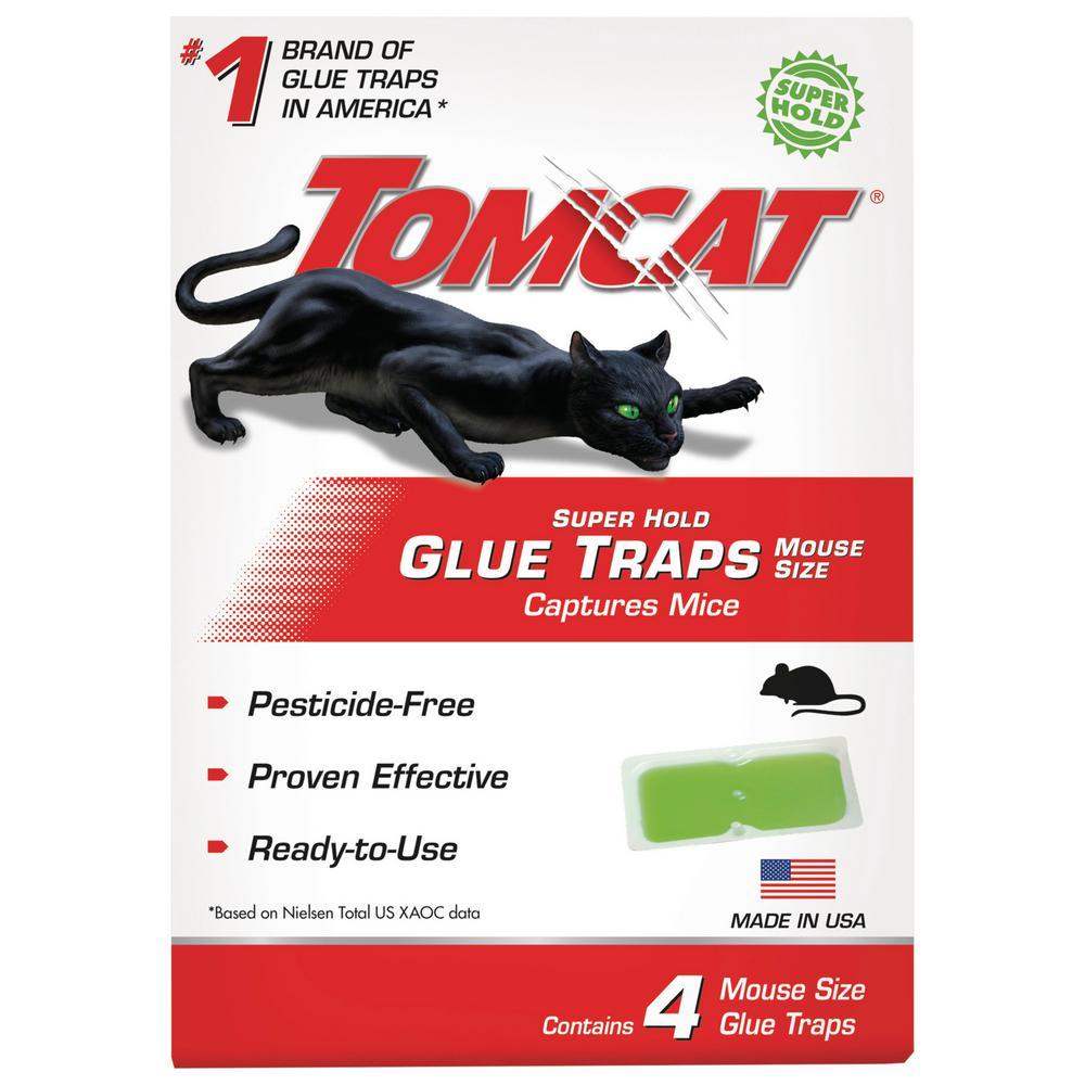 Tomcat Super Hold Glue Traps Mouse Size, 4 Traps