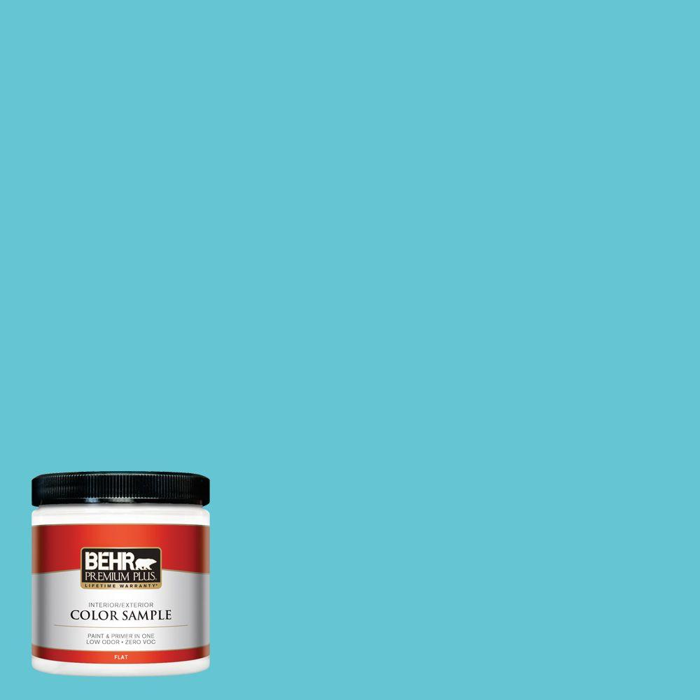 P470 4 Paradise Sky Flat Interior Exterior Paint And Primer In One Sample