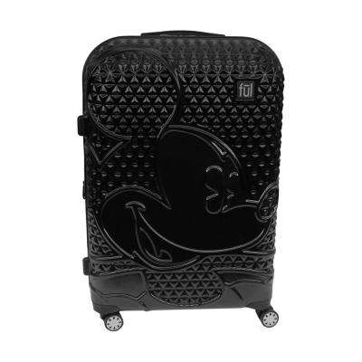 Textured Mickey Mouse 29 in. Black Hard Sided Rolling Luggage