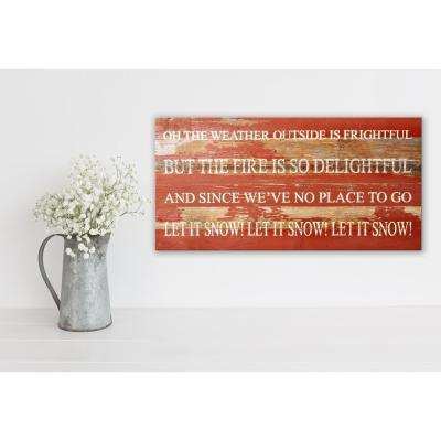 LET IT SNOW Reclaimed Wood Decorative Sign