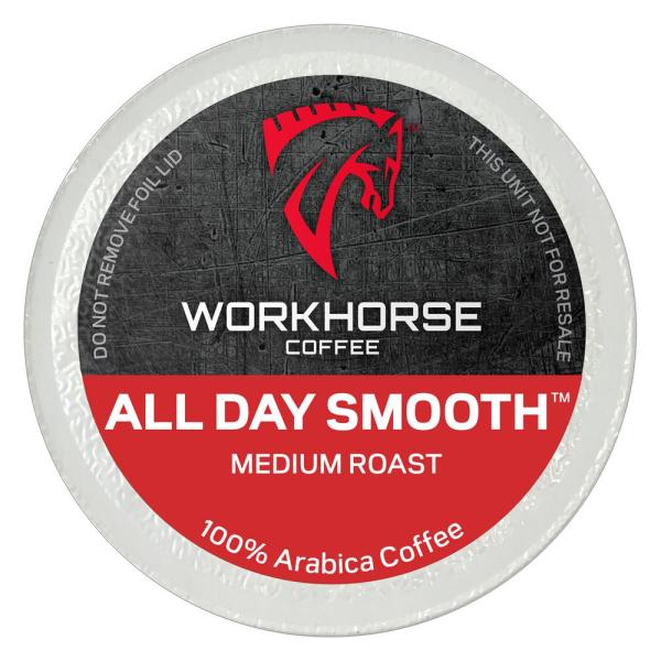 OXX Workhorse Coffee All Day Smooth Medium Roast Pods/K-Cups (40 Single