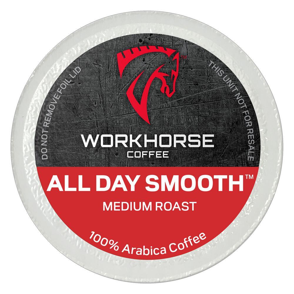 Workhorse Coffee All Day Smooth Medium Roast Coffee Pods (72 Single Serve  Cups per Box)