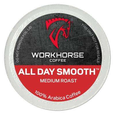 All Day Smooth Medium Roast Pods/K-Cups (40 Single Serve Cups Per Box)