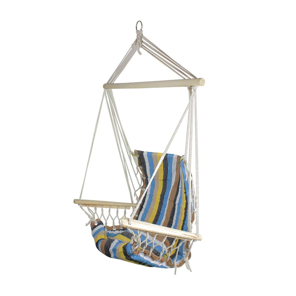 Northlight 21 In X 37 In Blue Brown And Yellow Striped