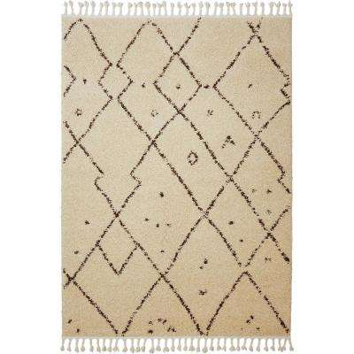 Nicole Miller Nepal Tara Ivory 5 ft. 2 in. x 7 ft. 2 in. Indoor Area Rug