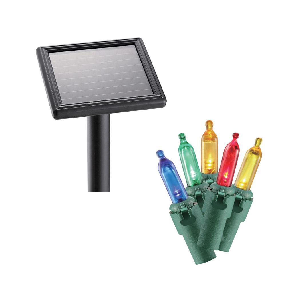 100-Light LED Multi-Color Smooth Mini Solar Light String