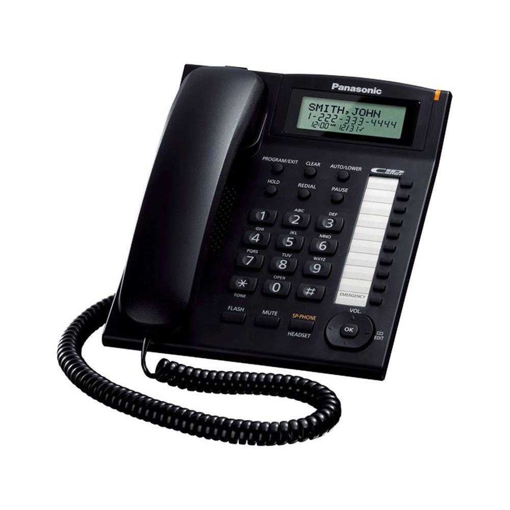 Panasonic Corded Phone with Caller ID and Speakerphone- Black
