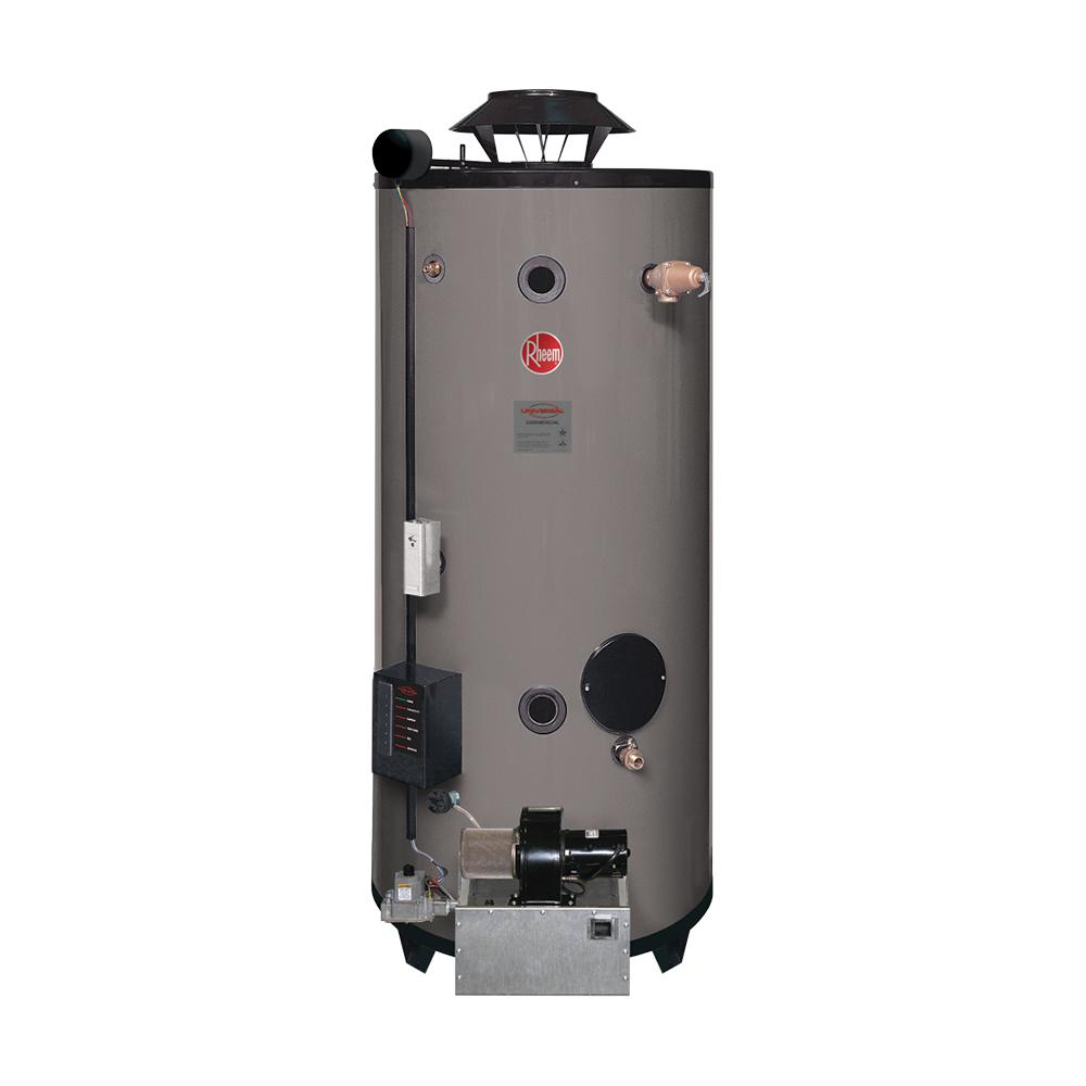 Rheem Commercial Universal Heavy Duty 100 Gal 199 9k Btu Ultra Low Nox Uln Natural Gas Tank Water Heater Gnu100 200 The Home Depot
