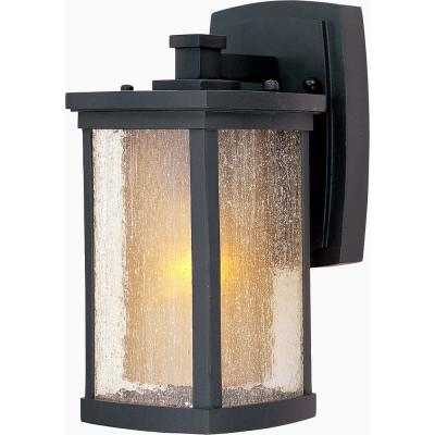 Bungalow 5.25 in. W 1-Light Bronze Outdoor Wall Lantern Sconce