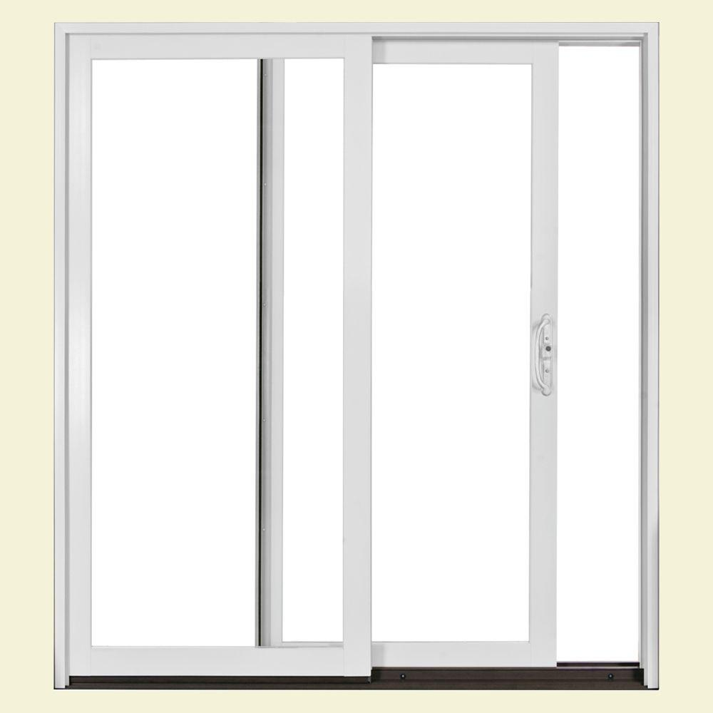 Jeld wen 72 in x 80 in w2500 series right hand sliding for Sliding glass doors 96 x 96