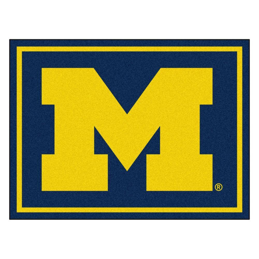 NCAA University of Michigan Navy Blue 8 ft. x 10 ft. Indoor Area Rug