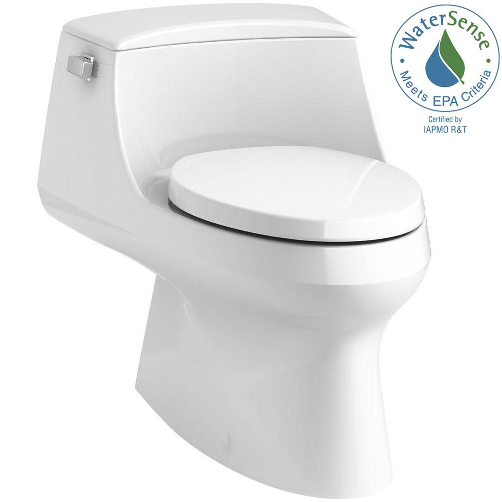 San Raphael 1-Piece 1.28 GPF Single Flush Elongated Toilet with Left-Hand