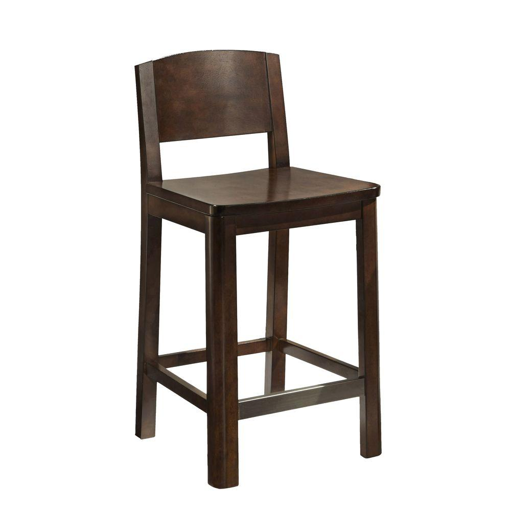 Home Styles Crescent Hill 24.75 in. Bar Stool in Dark Tortoise Shell