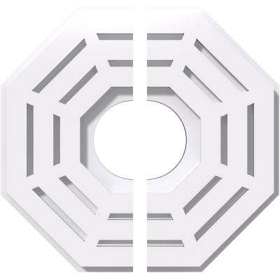 10 in. OD x 3 in. ID x 1 in. P Westin Architectural Grade PVC Contemporary Ceiling Medallion (2-Piece)