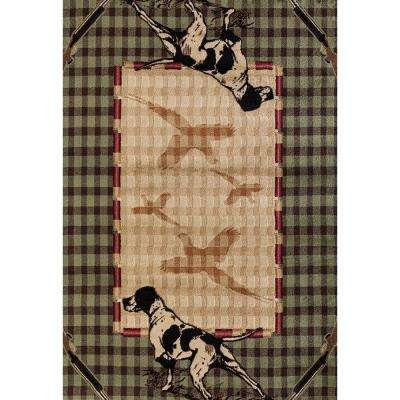 Woodside Hunter's Lookout Green 7 ft. 10 in. x 10 ft. 6 in. Oversize Area Rug