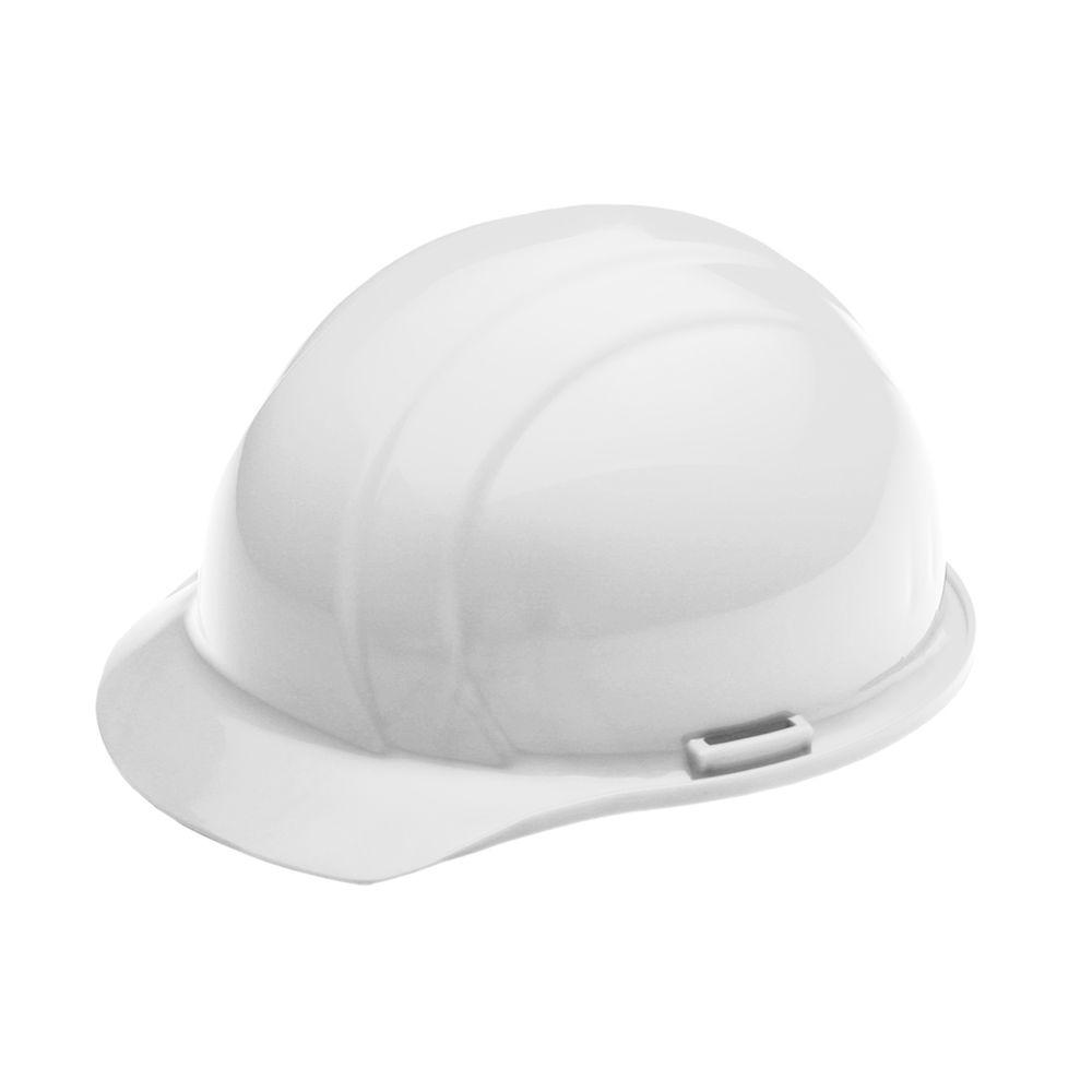 4 Point Nylon Suspension Mega Ratchet Cap Hard Hat in White