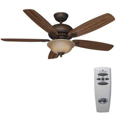 Southwind 52 in. Indoor Venetian Bronze Ceiling Fan with Light Kit and Remote Control