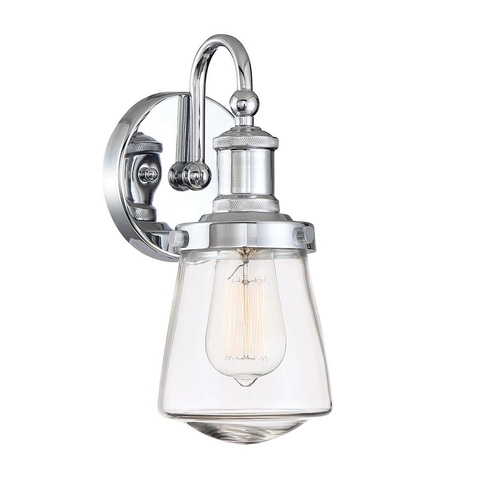Designers Fountain Taylor 1 Light Chrome Interior Wall Sconce
