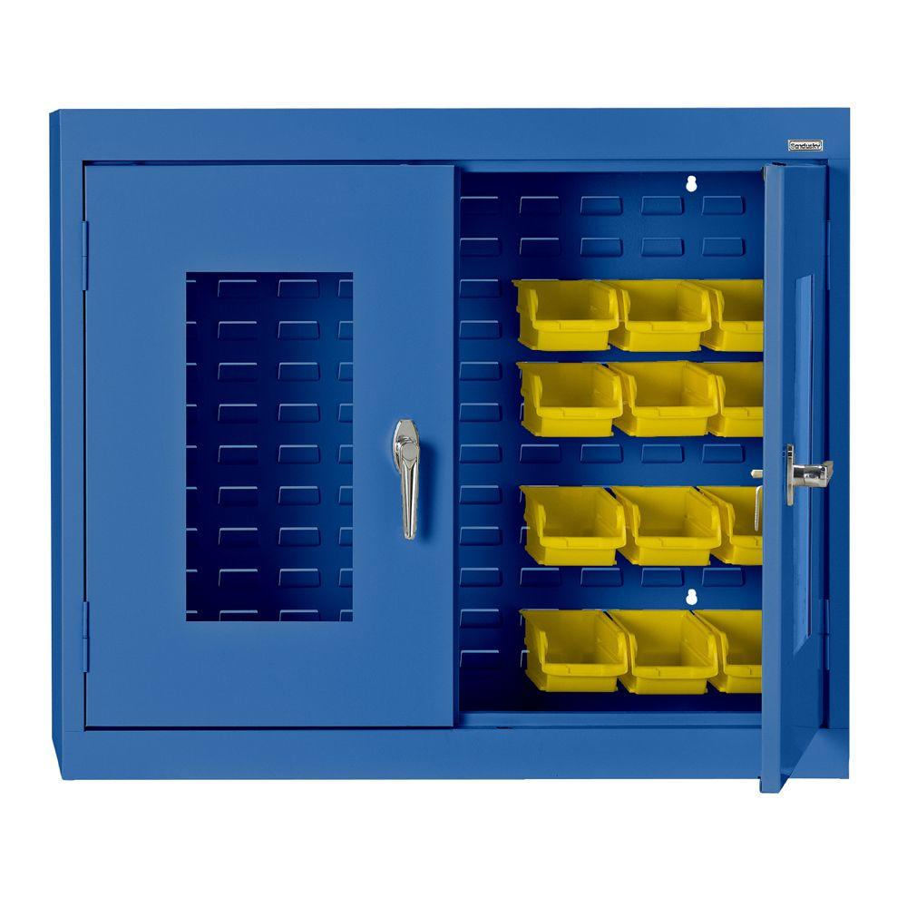 30 in h x 36 in w x 12 in d clear view bin wall storage cabinet in blue wb0v361230 06 the. Black Bedroom Furniture Sets. Home Design Ideas