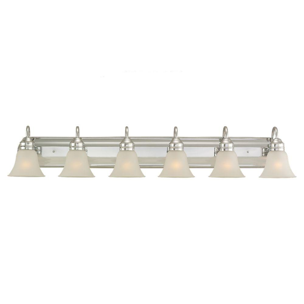 Vanity Light Home Depot: Sea Gull Lighting Gladstone 6-Light Chrome Vanity Fixture