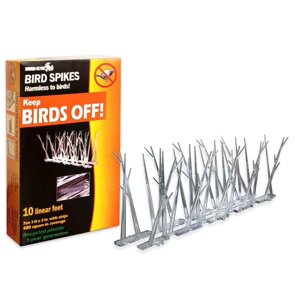 10 ft. Original Plastic Bird Spikes Bird Control Kit